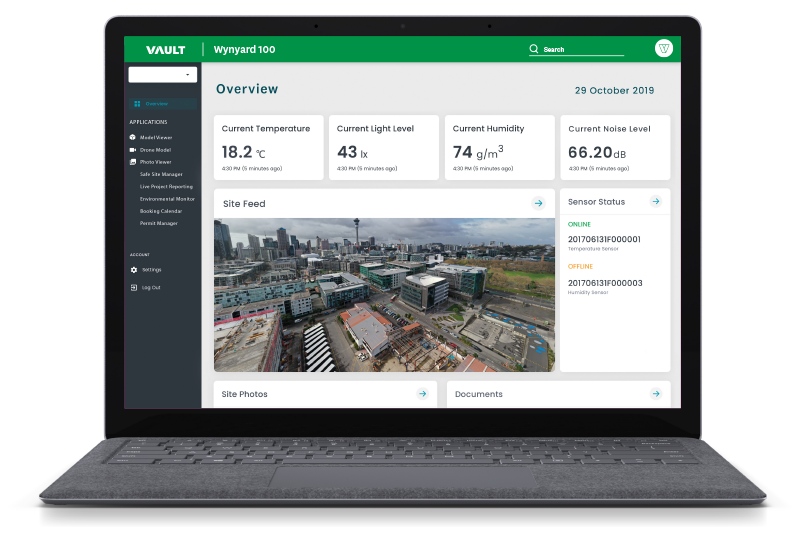 Connected Construction - Vault 3D Spatial Intelligence platform
